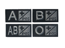 Load image into Gallery viewer, A+ B+ AB+ O+ Positive POS A- B- AB- O- Negative NEG Blood Type Group Patch Tactical Morale Patches Military Embroidery Badges - Ding's Place