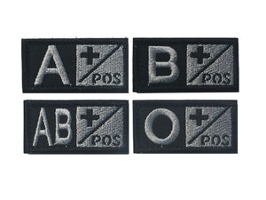 A+ B+ AB+ O+ Positive POS A- B- AB- O- Negative NEG Blood Type Group Patch Tactical Morale Patches Military Embroidery Badges - Ding's Place
