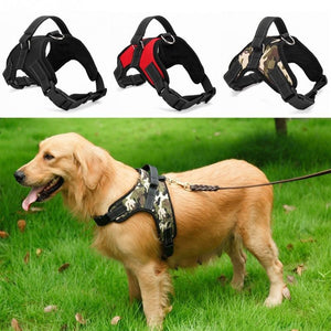 Dog Soft Adjustable Harness Pet Large Dog Walk Out Harness Vest Collar Hand Strap for Small Medium Large Dogs - Ding's Place