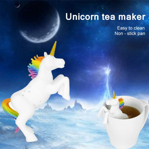 1 Pcs Silicone Creative Filter Loose Unicorn Shape Leaf Herbal Spice Filter Tea Bag Food Grade Tea Infuser Strainers Diffuser - Ding's Place