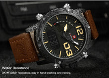 Load image into Gallery viewer, NAVIFORCE 9095 Men's Digital Sport Watch Wrist Watch For Men Top Brand Military Luxury Leather  LED Quartz Men's Watch - Ding's Place