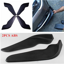 Load image into Gallery viewer, 1 Pair Auto Car Front Shovels Auto Vehicle Bumper Spoiler Front Shovel Decorative Scratch Resistant Wing Universal - Ding's Place
