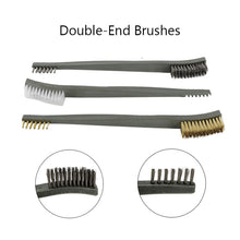 Load image into Gallery viewer, 7pcs/Set 3pcs Steel Wire Brush + 4pcs Nylon Pick Set Universal Gun Hunting Cleaning Kit Tactical Rifle Pistol Gun Cleaning Tool - Ding's Place