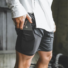Load image into Gallery viewer, Men 2 in 1 Running Shorts Jogging Gym Fitness Training Quick Dry Beach Short Pants Male Summer Sports Workout Bottoms Clothing - Ding's Place