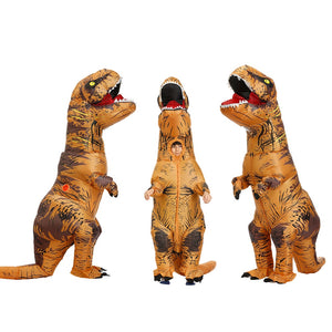 Adult Kids Inflatable Dinosaur Costume T REX women Men Costumes dinosaur Alien Halloween Party Fancy Dress suit Carnival Cosplay - Ding's Place