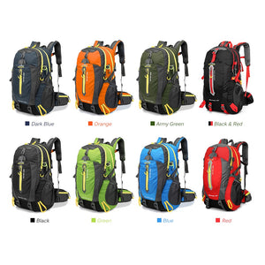 40L Waterproof Climbing Semi Tactical Rucksack Travel Hiking Backpack Laptop Daypack Trekking Backpack Outdoor Men Women Sport Bag - Ding's Place