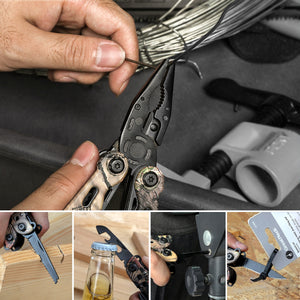 Mossy Oak 13 in 1 Camping Multi Tools Multifunction Plier Outdoor Survival Gear Folding Pocket Plier - Ding's Place