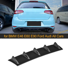 Load image into Gallery viewer, Universal Car Rear Bumper Diffuser Lip 5 3 Fin Shark Fin - Ding's Place