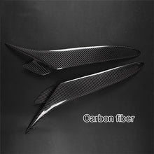 Load image into Gallery viewer, Real Carbon Fiber Headlight Eyebrows Eyelids Cover For Mazda RX8 2004 2008 RX 8 fiber glass Black primer eyebrow 1 pair - Ding's Place