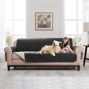 Sectional Sofa Couch Cover Pet Dog Kids Mat Stretch Elastic Recliner Sofa Cover Furniture Protector Water Resistance Anti-Slip - Ding's Place