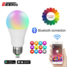 Load image into Gallery viewer, EeeToo RGB Bluetooth 4.0 LED Smart Bulb E27/B22 15W APP Music Voice Control Smart Light Lamp Multiple Colors LED Light for Home - Ding's Place