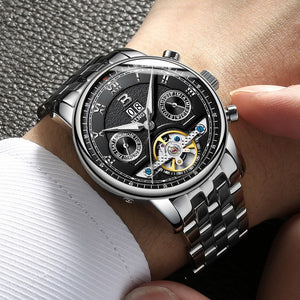 Switzerland BINGER Watches Men Luxury Brand Tourbillon multiple functions Water Resistant Mechanical Male Wristwatches B-8603M-6 - Ding's Place