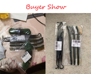 7pcs/Set 3pcs Steel Wire Brush + 4pcs Nylon Pick Set Universal Gun Hunting Cleaning Kit Tactical Rifle Pistol Gun Cleaning Tool - Ding's Place