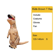 Load image into Gallery viewer, Adult Kids Inflatable Dinosaur Costume T REX women Men Costumes dinosaur Alien Halloween Party Fancy Dress suit Carnival Cosplay - Ding's Place