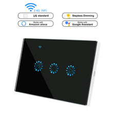 Load image into Gallery viewer, Smart Light Dimmer Switch US/EU Standard Wifi Switch Dimmable Touch Control Work with Alexa Google Assistant IFTTT 110V 220V - Ding's Place