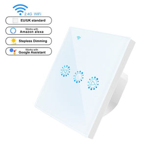 Smart Light Dimmer Switch US/EU Standard Wifi Switch Dimmable Touch Control Work with Alexa Google Assistant IFTTT 110V 220V - Ding's Place