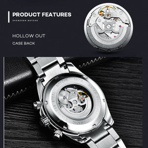 BOYZHE 2019 New Automatic Mechanical Watch Men's Tourbillon Watch Male 316 Steel Watches 30m Waterproof Sports Clock Luminous - Ding's Place