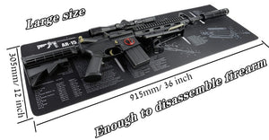Large Gun Cleaning Mat for AR15 AK47 Glock 1911 SIG Rifle Pistol Gunsmith Armorers disassembly Repair Build Tool Kits Bench Pads - Ding's Place