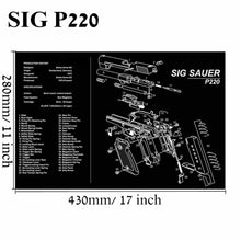Load image into Gallery viewer, Large Gun Cleaning Mat for AR15 AK47 Glock 1911 SIG Rifle Pistol Gunsmith Armorers disassembly Repair Build Tool Kits Bench Pads - Ding's Place