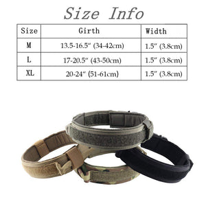 Dog Collar Nylon Adjustable Military Tactical Dog Collars Control Handle Training Pet Cat Dog Collar Pet Products - Ding's Place