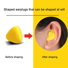 Load image into Gallery viewer, 60pcs/set Moldable Shaped PU Anti-noise Ear Plugs Noise Reduction Sleeping Guard Soft Anti-Snoring Health Care Sleep Aid Earplug - Ding's Place