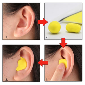 60pcs/set Moldable Shaped PU Anti-noise Ear Plugs Noise Reduction Sleeping Guard Soft Anti-Snoring Health Care Sleep Aid Earplug - Ding's Place