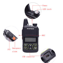 Load image into Gallery viewer, Baofeng Mini Mobile Car Transceiver 20 Channels UHF 400~470Mhz 15W Transmit Power iechle Radio & 2 Mini Handheld Walkie Talkies - Ding's Place