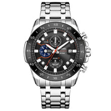 Load image into Gallery viewer, SMAEL Watch Men Classics bussiness alloy watch with three eyes and six stitches dial  Mens Reloj Watches Homme Saati SL-9090 - Ding's Place