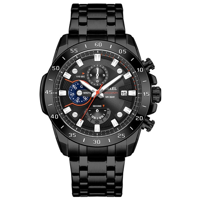 SMAEL Watch Men Classics bussiness alloy watch with three eyes and six stitches dial  Mens Reloj Watches Homme Saati SL-9090 - Ding's Place