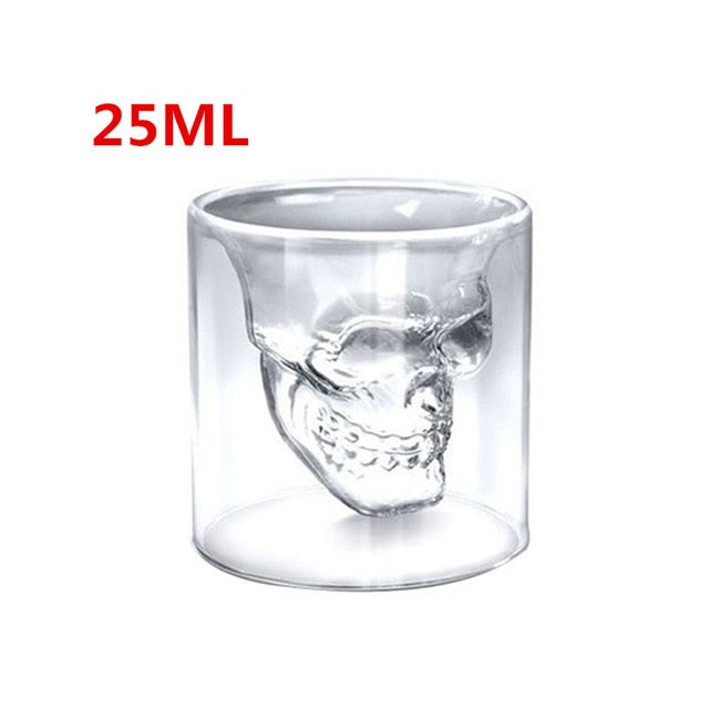 Creative Skull Glass Whisky Vodka Wine Crystal Bottle Spirits Cups Transparent Wine Drinking Cups Bar Home - Ding's Place