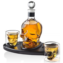 Load image into Gallery viewer, Creative Skull Glass Whisky Vodka Wine Crystal Bottle Spirits Cups Transparent Wine Drinking Cups Bar Home - Ding's Place