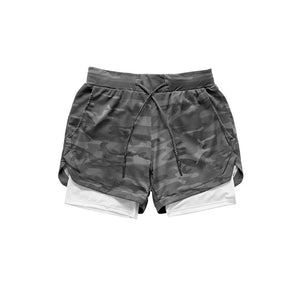 Camo Running Shorts Men 2 In 1 Double-deck Quick Dry GYM Sport Shorts Fitness Jogging Workout Shorts Men Sports Short Pants - Ding's Place