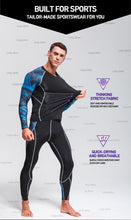 Load image into Gallery viewer, Men's tracksuit Clothes Compression Sports Suit Fitness MMA Kit rashguard Male Gym leggings Sportswear Running long tights  4xl - Ding's Place