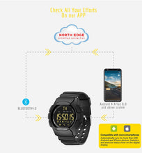 Load image into Gallery viewer, NORTH EDGE Men's Smartwatch Bluetooth Smart Watch For IOS and Android - Ding's Place