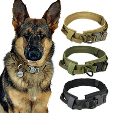 Load image into Gallery viewer, Dog Collar Nylon Adjustable Military Tactical Dog Collars Control Handle Training Pet Cat Dog Collar Pet Products - Ding's Place