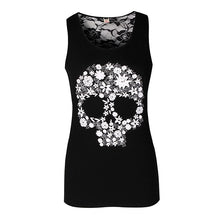 Load image into Gallery viewer, Women Tank Tops Summer Vest Punk Rock Skull Print Tank Casual Sleeveless Vest Women Clothing - Ding's Place
