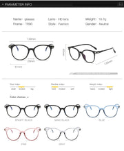 Load image into Gallery viewer, Blue Light Glasses Clear Regular Computer Gaming Glasses Fashion Women Eyewear Improve Comfort Anti Blue Ray Eyeglasses For Men - Ding's Place