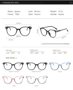 Blue Light Glasses Clear Regular Computer Gaming Glasses Fashion Women Eyewear Improve Comfort Anti Blue Ray Eyeglasses For Men - Ding's Place