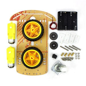 4/2WD Robot Smart Car Chassis Kits with Speed Encoder for Arduino 51 M26 DIY Education Robot Smart Car Kit For Student kids - Ding's Place