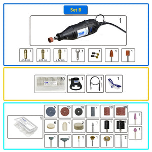 TASP 230V 130W Rotary Tool Set Electric Mini Drill Engraver Kit with Attachments and Accessories Power Tools for Craft Projects - Ding's Place