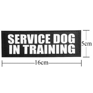 Dog ID Tag Patches for Pet Dog Collar Harness Vest Service Dog In Training Velcro Patch Therapy Dog - Ding's Place