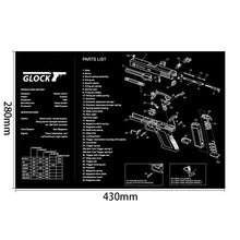 Load image into Gallery viewer, AR15 AK47 Gun Cleaning Rubber Mat With Parts Diagram Instructions Armorers Bench Mat Mouse Pad for Glock 1911 Beretta 92 HK USP - Ding's Place