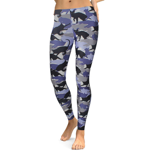 Leggings Women's Animal Cat Legging Digital Print Fitness Leggins Slim High Waist  Workout Pants Legins - Ding's Place