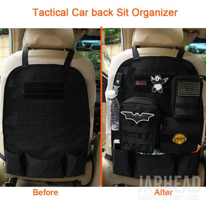Universal Tactical MOLLE Car Seat Back Organizer military MOLLE Panel Vehicle Seat Cover Protector Kit Mat Black - Ding's Place