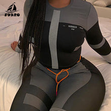 Load image into Gallery viewer, Yoga Set / Tracksuit High Waist Leggings Sets Sport Suit Women Active Wear Fitness Clothing 2 Piece Set Women - Ding's Place