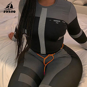 Yoga Set / Tracksuit High Waist Leggings Sets Sport Suit Women Active Wear Fitness Clothing 2 Piece Set Women - Ding's Place