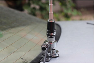 Dual band mobile radio brackets whip antenna 145/435M dual band car two way radio whip antenna UV amateur radio car antenna - Ding's Place