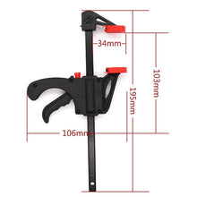Load image into Gallery viewer, Quick Ratchet Release Speed Squeeze Wood Working Work Bar F Clamp Clip Kit Spreader Gadget Tools DIY Hand Tool - Ding's Place