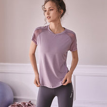 Load image into Gallery viewer, Women's Sports Short Sleeve T Shirt Workout Running T-shirt Women Quick Dry Yoga Shirt Mesh Patchwork Fitness Top - Ding's Place