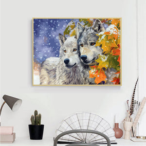 AZQSD Animals Oil Painting By Numbers For Adults Paints By Number Canvas Painting Kits 50x40cm DIY Gift Home Decor - Ding's Place